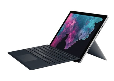 "Microsoft - Surface Pro with Black Keyboard - 12.3"" Touch Screen - Intel Core M3 - 4GB Memory - 128GB Solid State Drive - Platinum"