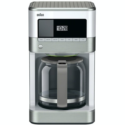 Braun BrewSense 12-Cup Drip Coffee Maker, White
