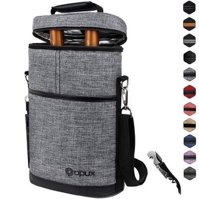 OPUX Insulated Wine Bottle Carrier