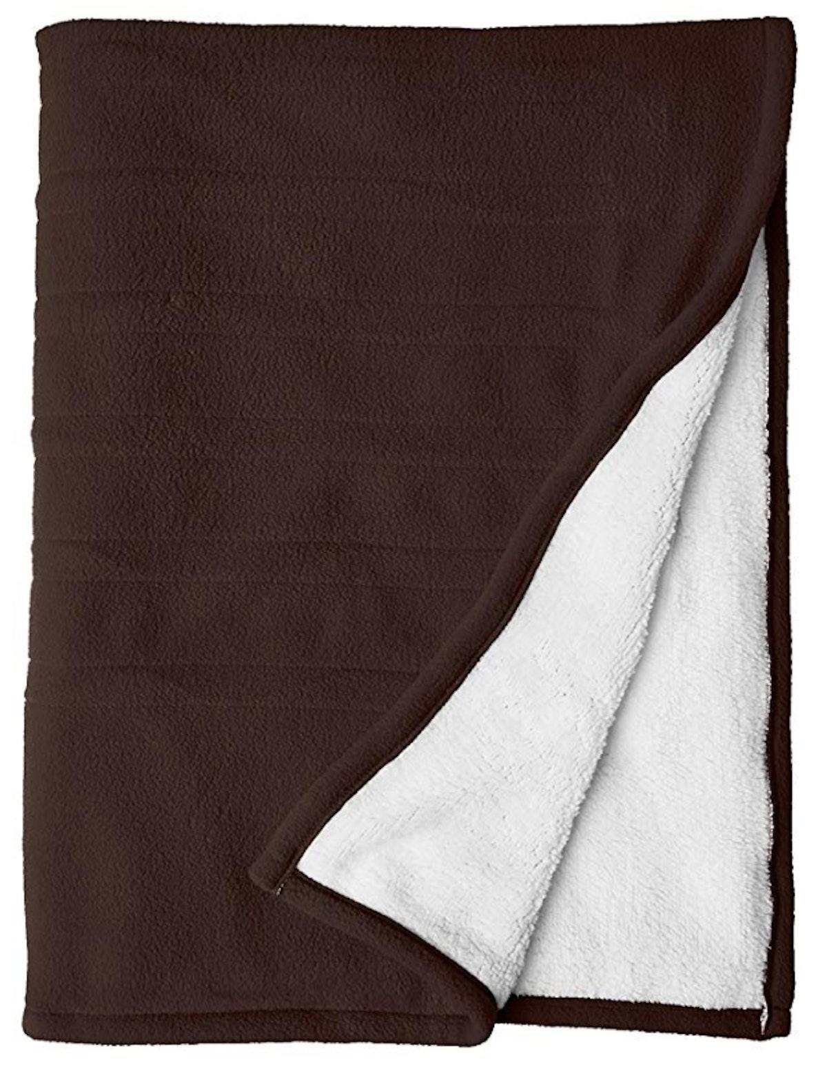 Serta Reversible Heated Throw Blanket