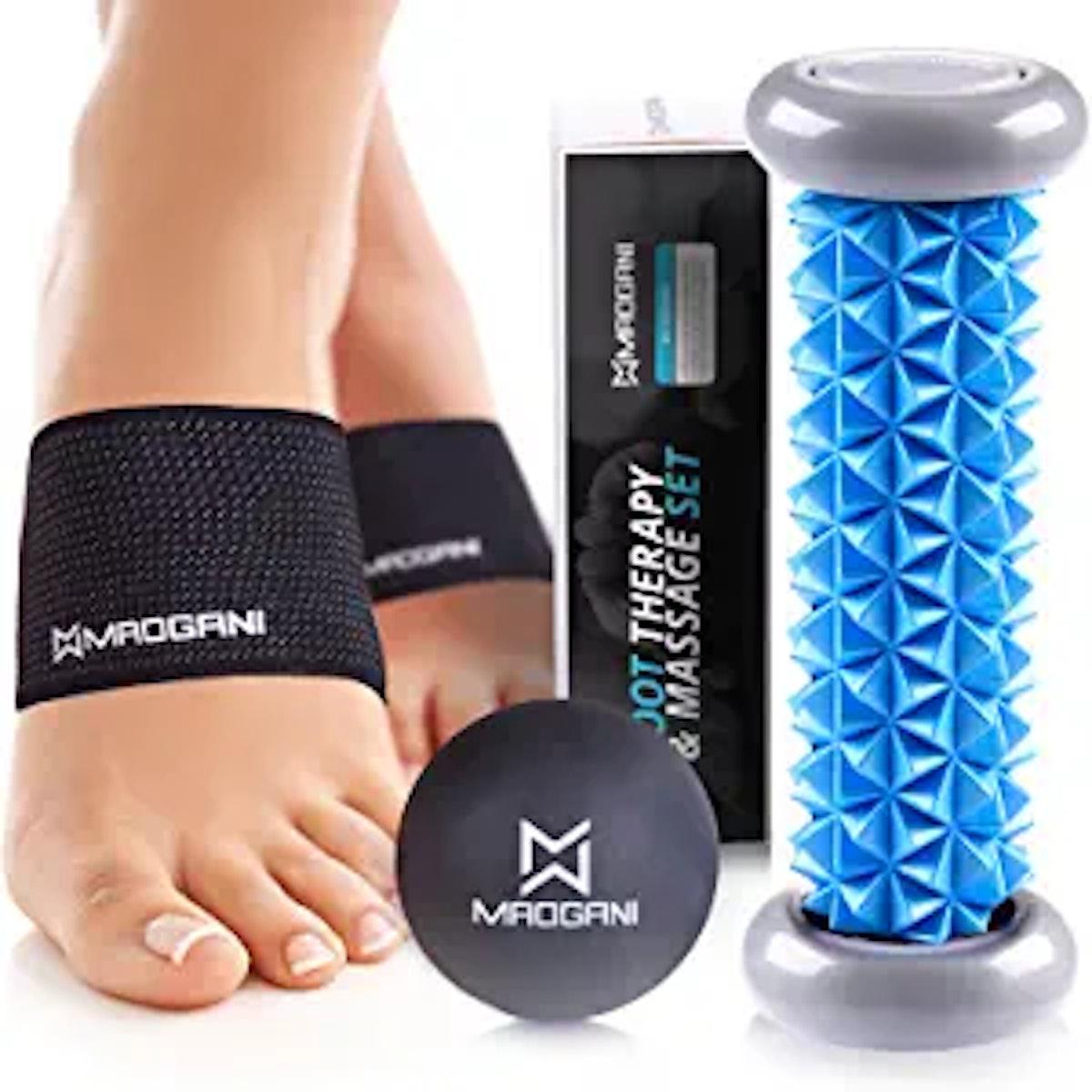 Maogani Foot Massager Roller Ball & Arch Support