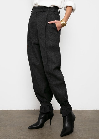Anthracite Trousers with Button Tab Cuff