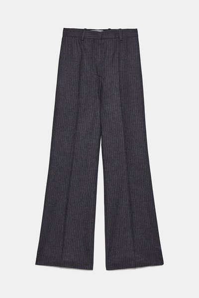 Pinstripe Straight Leg Pants