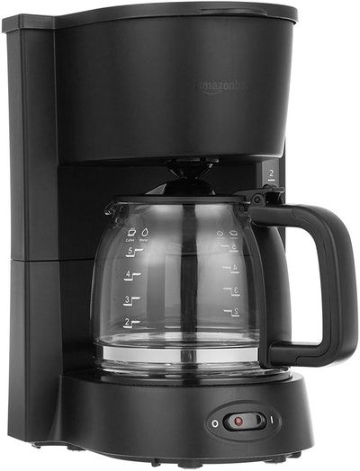 AmazonBasics 5-Cup Coffee Maker With Glass Carafe