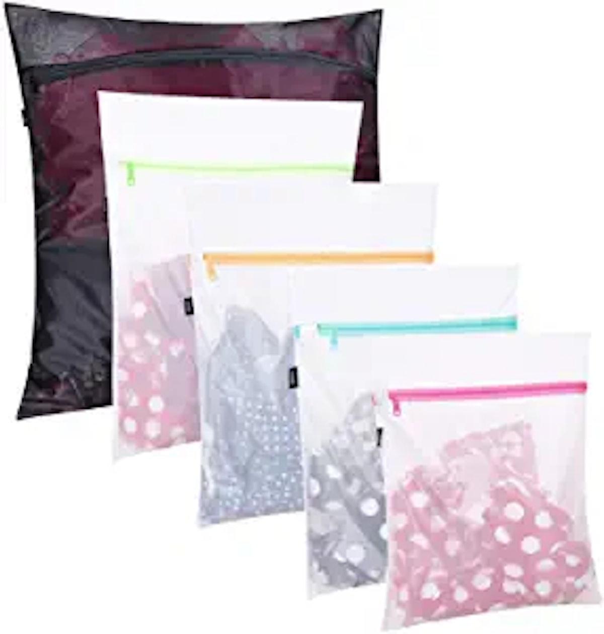 BAGAIL Mesh Laundry Bags (5-Piece Set)