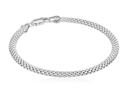 Amazon Essentials Plated Sterling Silver Mesh Chain Bracelet