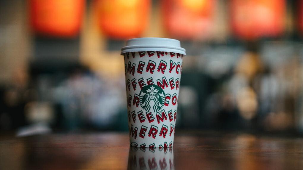 Starbucks' Nov. 21 Happy Hour Deal Includes applies to Grande or larger beverages.