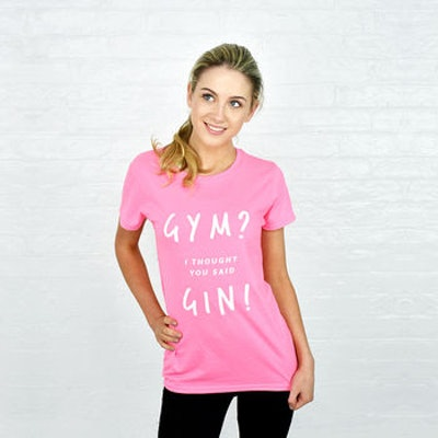 'Gym? Gin' Women's Exercise T Shirt