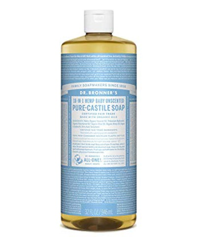 Dr. Bronner's Pure-Castile Unscented Baby Soap