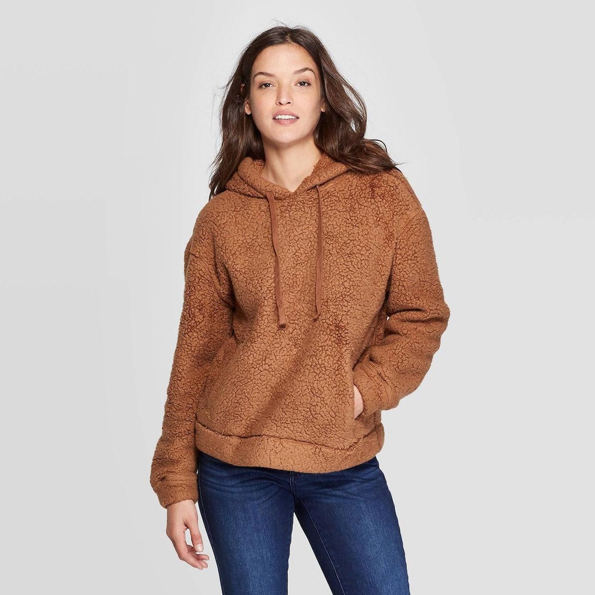 Universal Thread Women's Crewneck Sherpa Sweatshirt Hoodie
