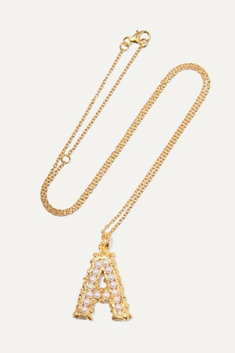 Alphabet Gold-Plated Pearl Necklace