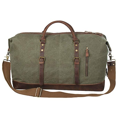 S-ZONE Oversized Canvas Weekend Bag