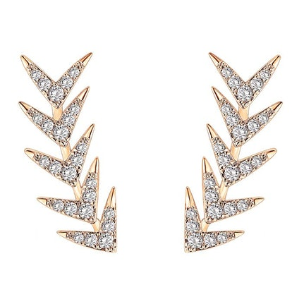 PAVOI 14K Gold Plated Sterling Silver Post Ear Crawler