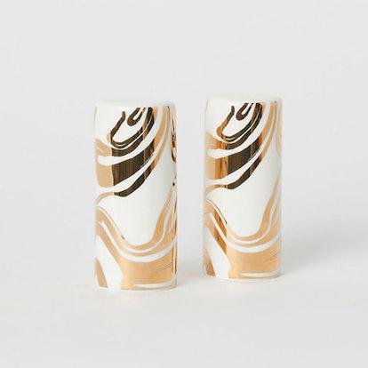 Porcelain Salt and Pepper Set