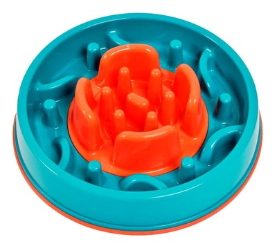 K9 Pursuits 2-in-1 Anti Gobble Dog Feeding Bowl & Interactive Game