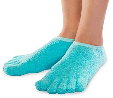 NatraCure 5-Toe Gel Moisturizing Socks