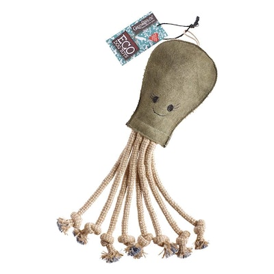 Green & Wilds Olive the Octopus Dog Toy