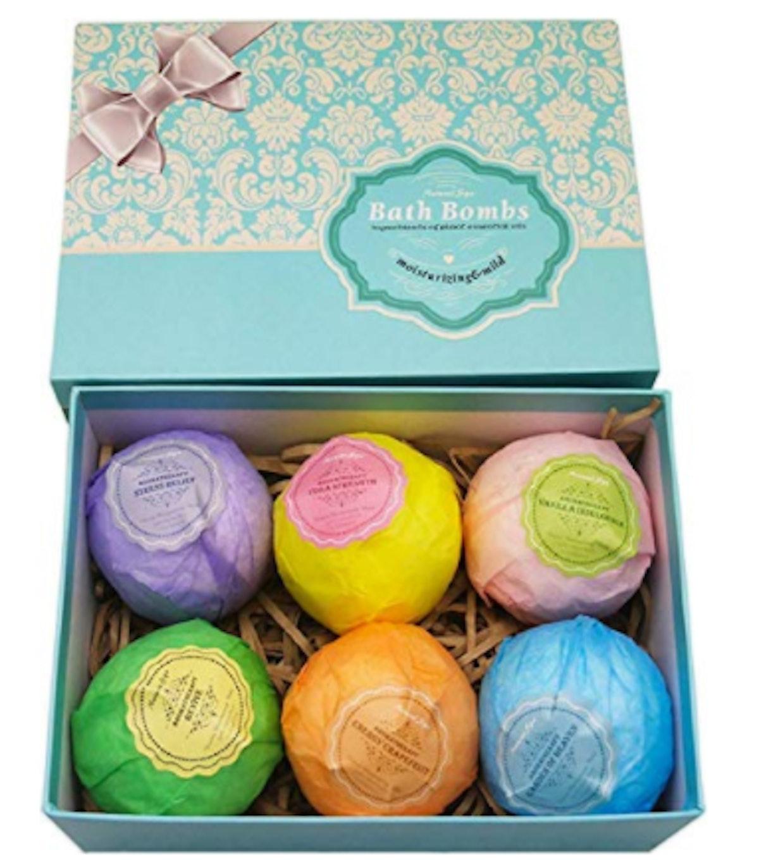 Natural Spa Bath Bombs Ultra Lush Gift Set (6-Pack)