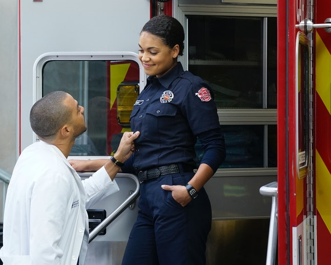 Jackson Avery and Vic Hughes from Grey's Anatomy and Station 19