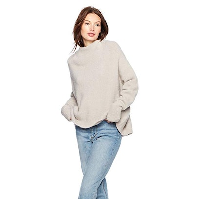 Cable Stitch Women's Mock Neck Sweater
