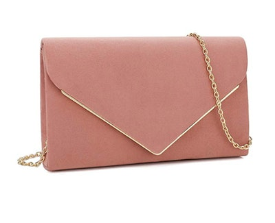 Charming Tailor Faux Suede Clutch Bag
