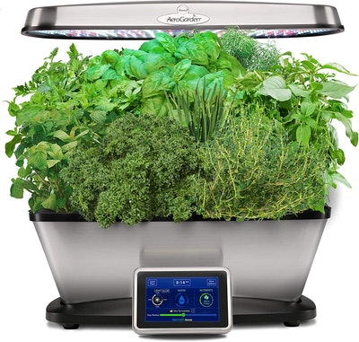 AeroGarden Classic 9 Elite-Stainless Steel Garden