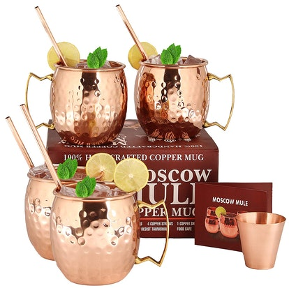 A29 Moscow Mule Copper Mugs (Set of 4)