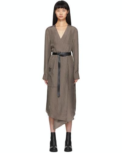 Brown Walden Midi Wrap Dress