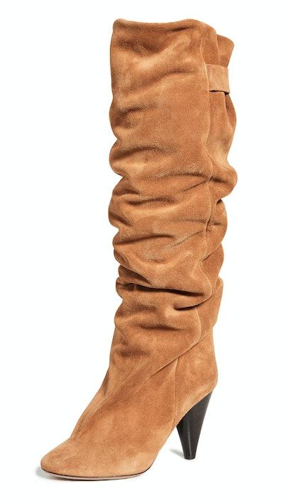 Lacine Velvet Wrinkled Boots