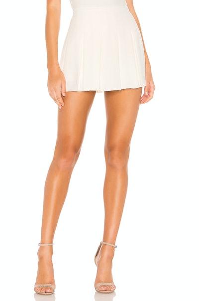 Dixon Pleated Crepe Skirt