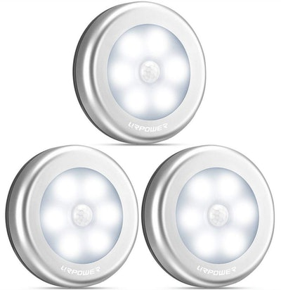Motion Sensor Lights So You Can Actually See In Your Closet (Set of 3)