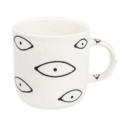 Large White Eye Mug