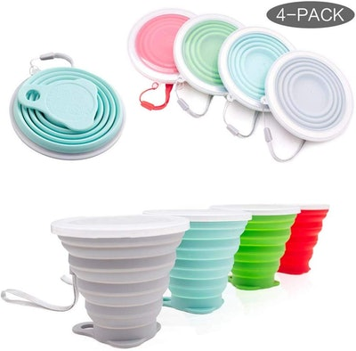 Hokone Collapsible Travel Cup (4-Pack)