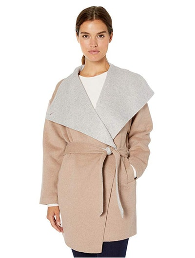 Daily Ritual Women's Double-Face Wool Short Coat