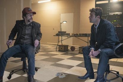 Tim Blake Nelson and James Wolk in 'Watchmen'