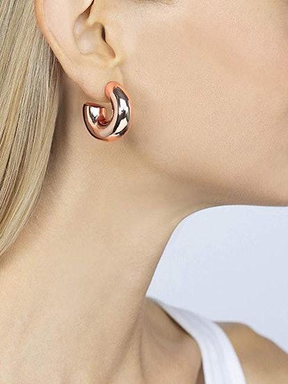 JANIS BY JANIS SAVITT High Polished Small Hoop Earrings