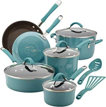 Rachael Ray Nonstick Cookware Pots and Pans Set (12 Pieces)