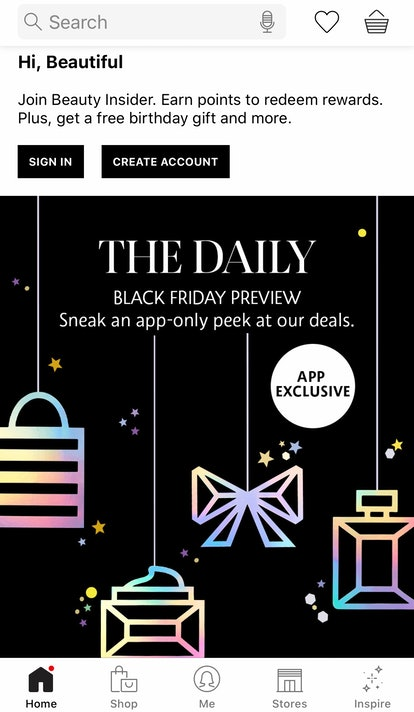 Sephora's Black Friday sale previews are live on the Sephora app.