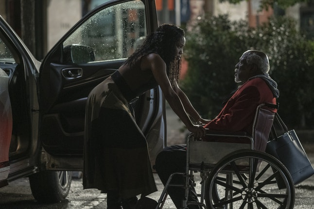 Regina King and Louis Gossett Jr. as Angela Abar and her grandfather in 'Watchmen'