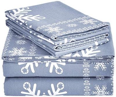 Pinzon Cotton Flannel Bed Sheet Set
