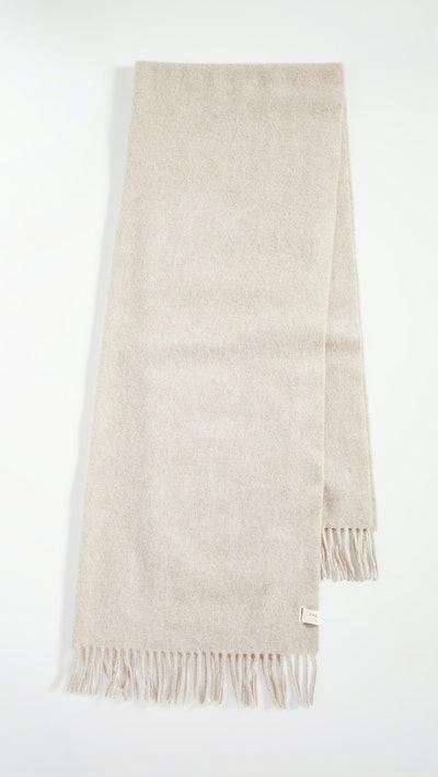 Classic Fringed Wool Scarf