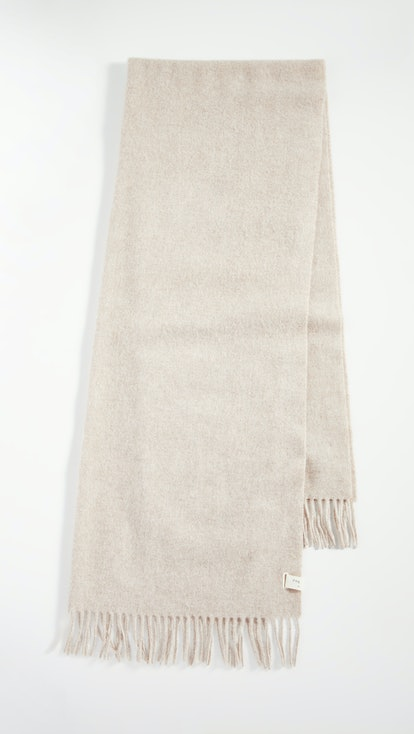 Classic Fringed Wool Scarf