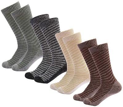 Mio Marino Women's Warm Wool Socks (4-Pack)