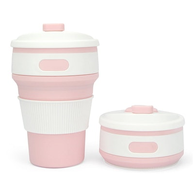 Collapsible Silicone Coffee Cup Mug Reusable Travel Foldable Leak Proof