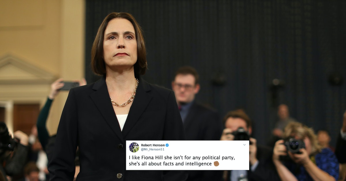 """These Tweets About Fiona Hill's Testimony Cheer On Her """"DGAF"""" Vibes"""