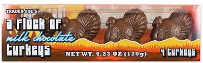 A Flock of Milk Chocolate Turkeys