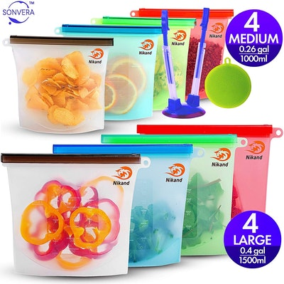 Lemason Reusable Silicone Bags (Set Of 8)