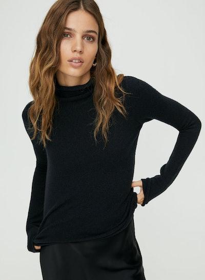 Darling Fitted Mockneck Sweater
