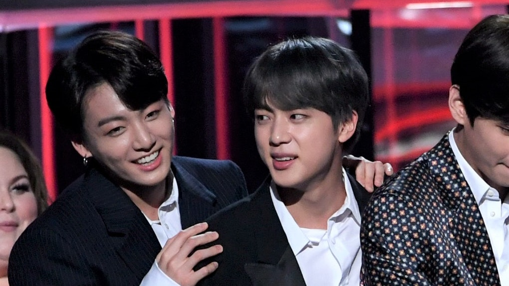 BTS' Jin and Jungkook share a special moment together at the 2019 Billboard Music Awards.