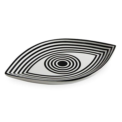 Now House by Jonathan Adler Wink Trinket Tray, Black and White